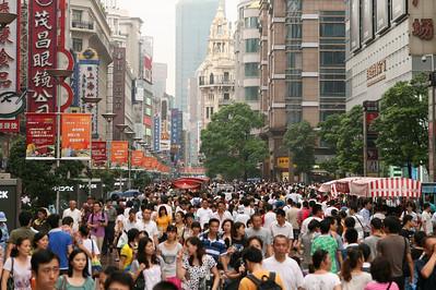 Crowded East Nanjing Rd, Shanghai