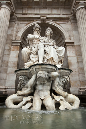 Danubius or Albrecht Fountain, Albertina Building, Vienna, Austria