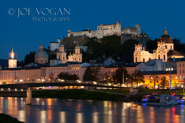 View of Old Town from Salzach River, Salzburg, Austria