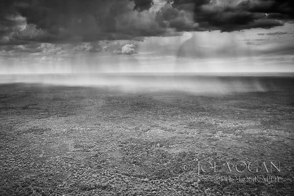 Rain over the Okavango Delta, Botswana