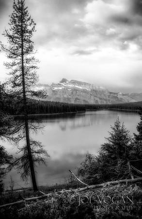 Mount Rundle from Lake Minnewanka, Banff National Park, Alberta, Canada