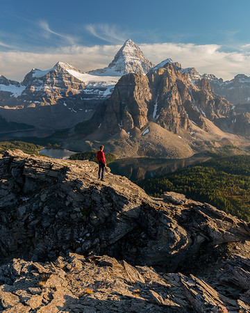 Assiniboine Sunset from Nub Peak