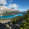 Peyto Lake viewed from Bow Summit, Icefields Parkway, Banff National Park, Canada