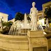 Fountain, Plaza de Armas, Old San Juan, Puerto Rico