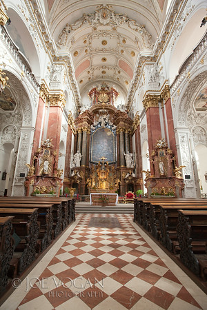 Church of St. Ignace on Charles Square, Prague, Czech Republic.  Architect Carlo Lurago, 1670.