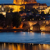 View of Prague Castle from the Vltava River, Prague, Czech Republic