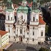 View of St. Nicholas Church from Town Hall, Prague, Czech Republic