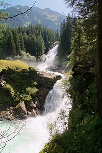National Park Hohe Tauern. Krimmler Wasserfälle