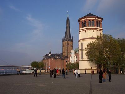 Düsseldorf. Schlossturm and Burgplatz