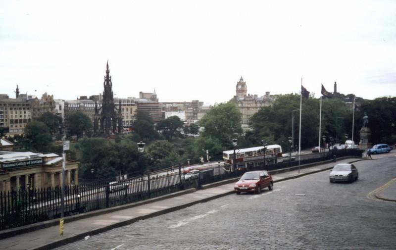 Edinburgh. View from Mound Pl