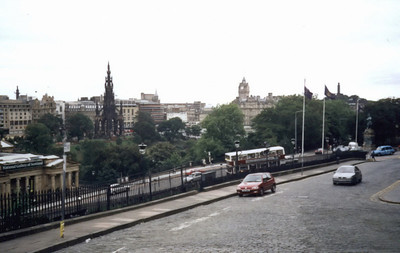 Edinburgh. View from Mound Pl