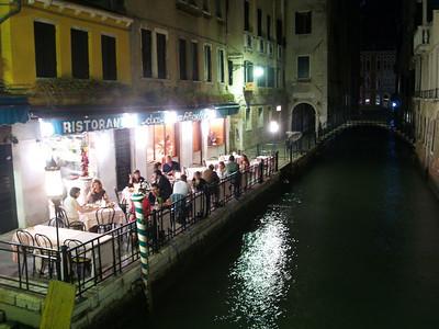 Late nite dining, Venice