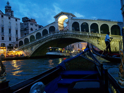 Gondola ride, Rialto Bridge, Venice