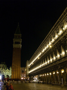 St. Mark's Square, late night Venice