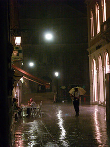 Caught in the rain, Venice