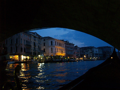 Gondola ride, under the Rialto, Venice