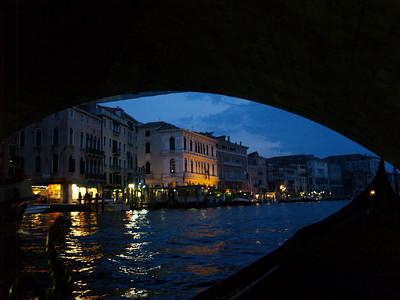 Gondola ride, under the Rialto, Venice
