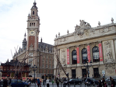Lille. Palais de la Bourse and Opéra