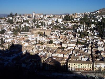 Alhambra. Vista del Albayzín