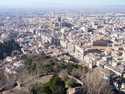 Alhambra. Vista de Granada