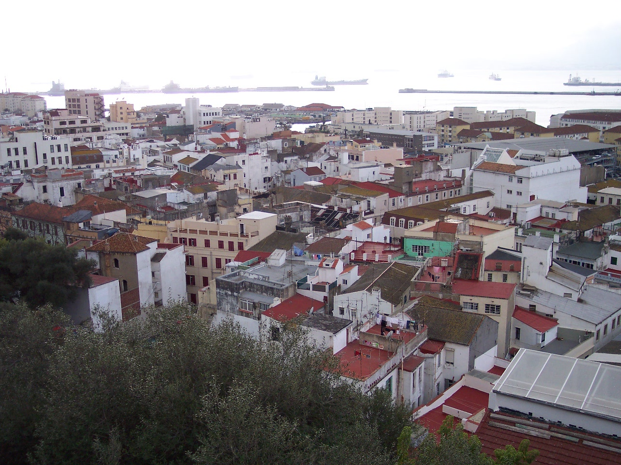 Gibraltar. View of the city