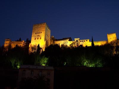Granada. Alhambra de noche