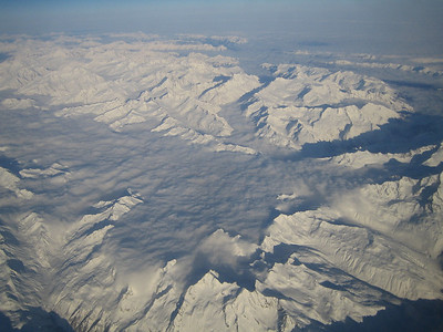 Alps from the plane
