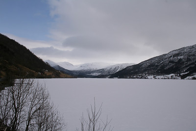 Frozen lake, north of Voss