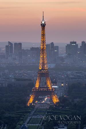 La tour Eiffel or Eiffel Tower, Champ de Mars, Paris, France