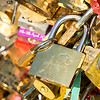 Locks on the Pont des Artes Bridge, Paris, France