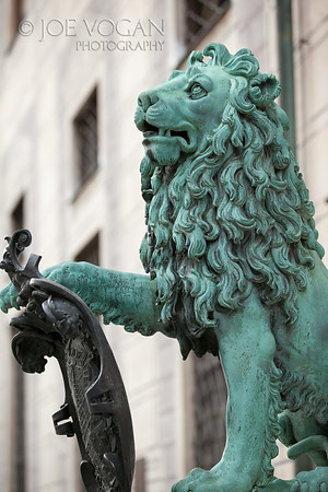 Lion Statue, Munich Residenz or Residence, Munich, Germany