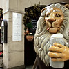 Lion Statue, Munich Cafe, Germany
