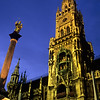Statue of the Virgin Mary, Marienplatz, Munich, Germany