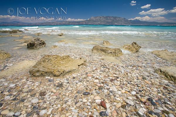 Rocky beach near Corinth, Gulf of Corinth, Greece