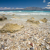 Rocky beach near Corinth, Gulf of Corinth, Greece