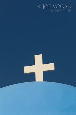 Church, Kamari, Island of Santorini, Greece