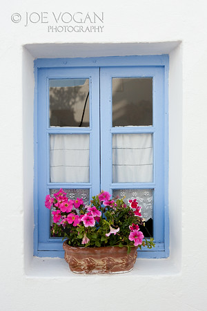 Window Sill, Imerovigli, Island of Santorini, Greece