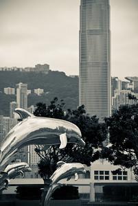 Dolphin Sunset Fountain, Tsim Sha Tsui - 尖沙咀