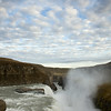 Gullfoss or Golden Falls Waterfall, Hvita River, Southwest Iceland