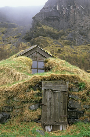 Turf covered farmhouse, Nupsstadur, Iceland