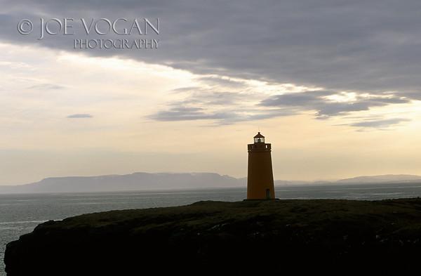 Lighthouse, Reykjanes, Iceland