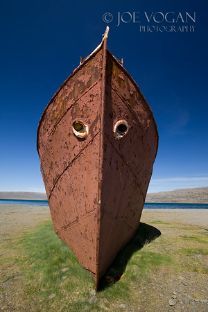 Gardar Steel Ship, Northwest Fjords, Iceland