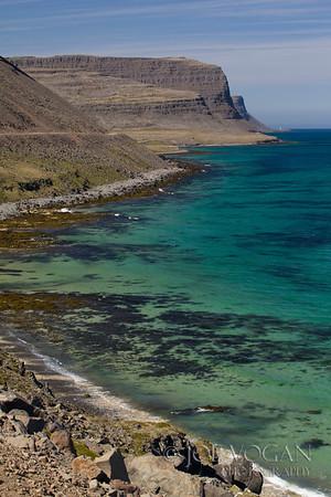 Patreksfjordur coastline, northwest fjords, Iceland
