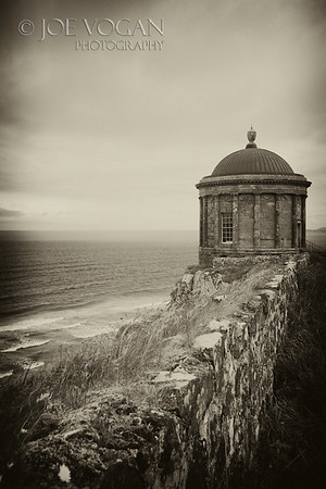 Mussenden Temple near Castlerock, County Londonderry, Northern Ireland