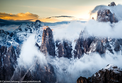 Moring in the Dolomites