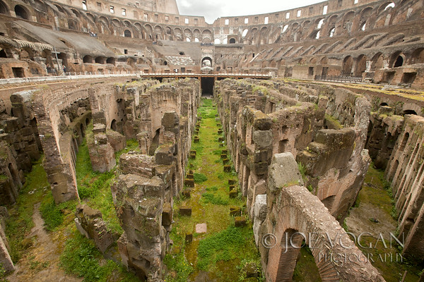 The Colosseum or Coliseum, originally Flavian Amphitheatre, City of Rome, Italy