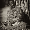 Woman and baby, Samburu Tribe, Samburu National Reserve, Kenya