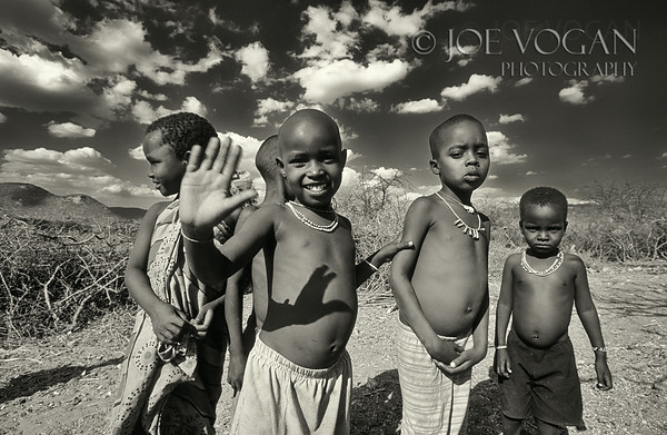 Children from the Samburu Tribe, Samburu National Reserve, Kenya