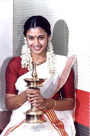 Malayalam (Keralite, India) actress in traditional dress