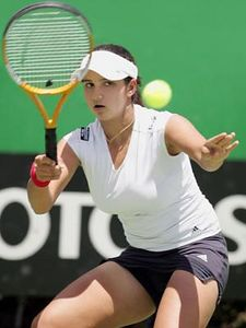 Sania Mirza - A professional female tennis player from India